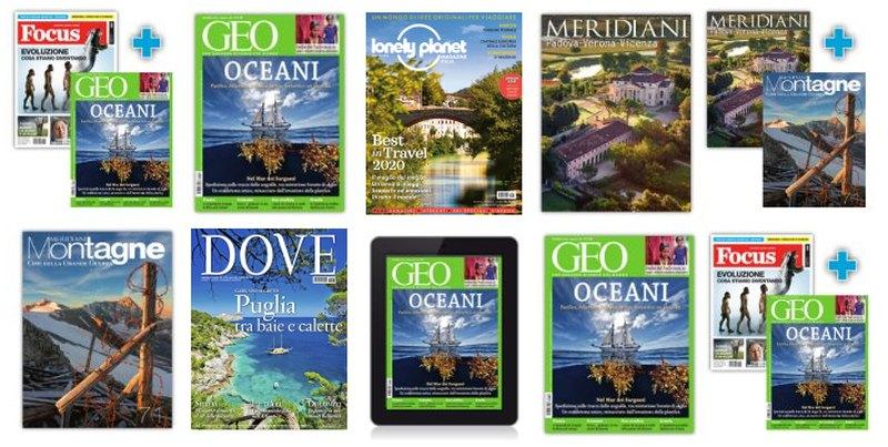 Abbonamenti riviste viaggi for Riviste arredamento on line gratis