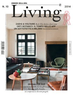 Abbonamento living for Magazine arredamento