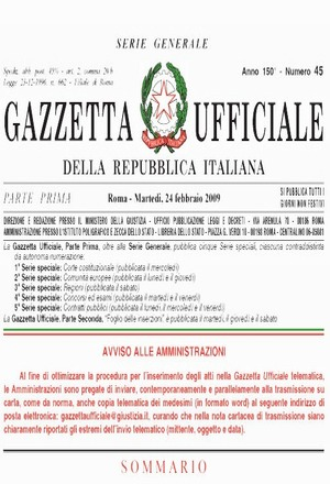 gazzetta ufficiale della repubblica italiana